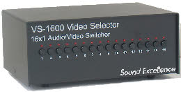 Picture of 16 to 1 audio video switcher